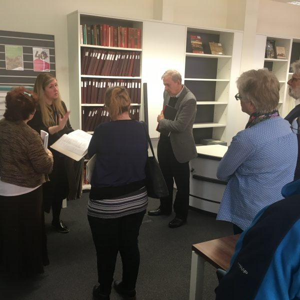 Story Mine Volunteers visit Derbyshire Record Office, March 2018